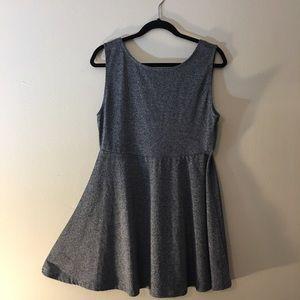 Gray Marled Stretchy Skater Dress